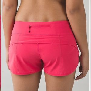 Lululemon pink lightweight Speed running shorts